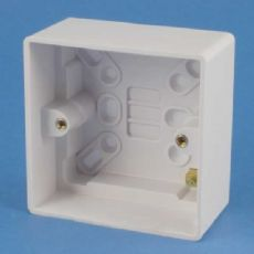 GET GPAT1G47 47mm Surface Mounted Pattress Wall Back Box 1 Gang